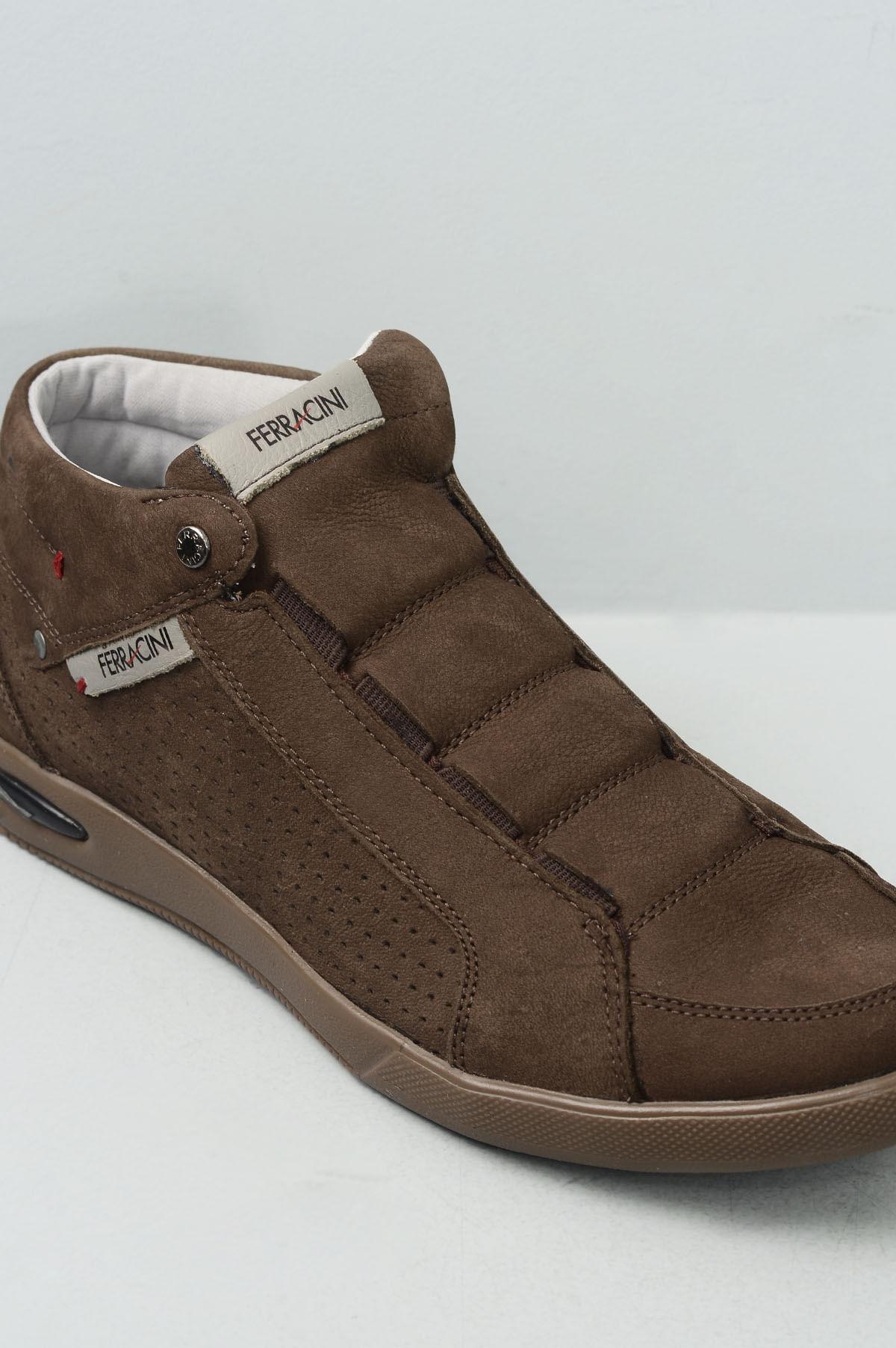 Sapatênis Masculino Ferracini Blady CR - CAFE - Mundial Calçados 8e477235be6d7