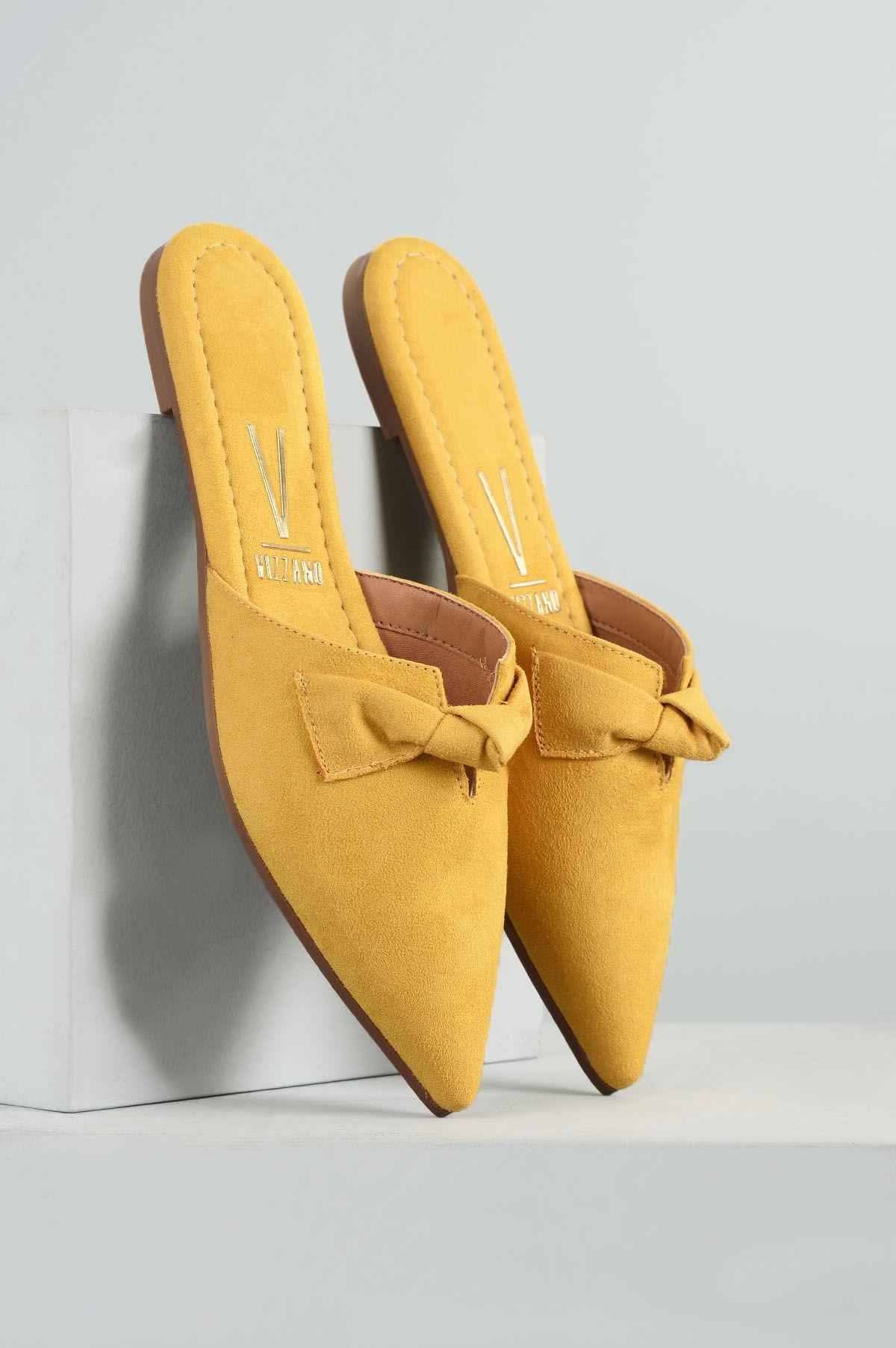dea8d56e87 Mule Feminino Cindy Vizzano CAM - AMARELO - Mundial Calçados