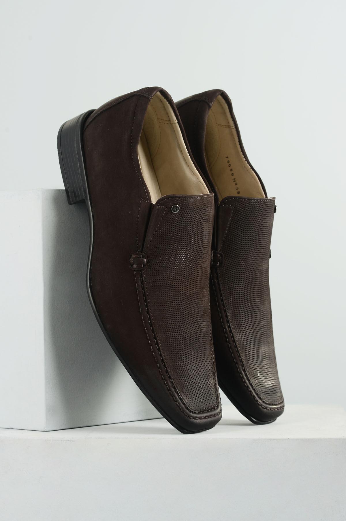 55ffaf8fe9 Sapato Masculino Jota Pe Air Harbour CR - CAFE - Mundial Calçados