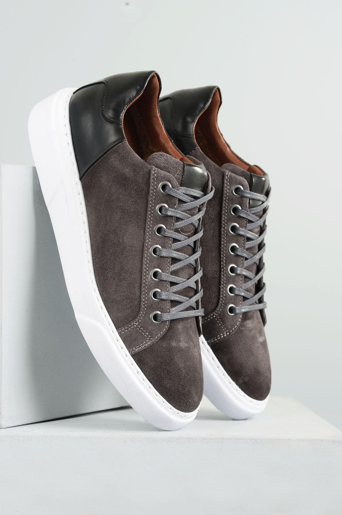 9babc93cccd Sapatênis Masculino Nilton Mundial CAMURÇA CINZA - Mundial Calçados
