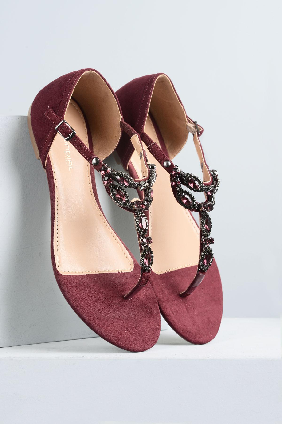 06351f214 Sandália Feminina Rasteira Sefora Mundial CAM - VINHO - Mundial Calçados