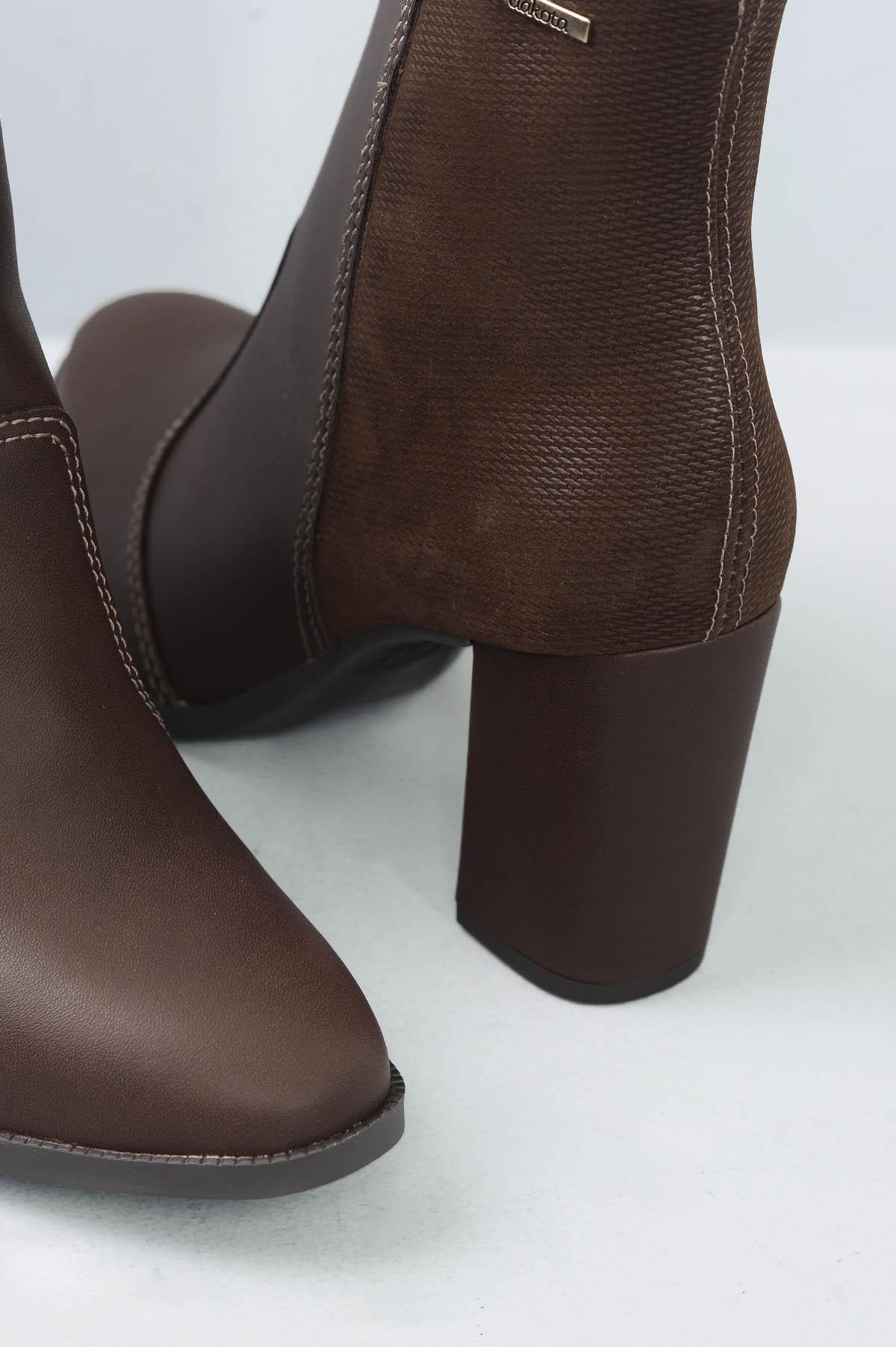2b0fc059b4 Ankle Boot Feminino Soraya Dakota SINT - CAFE - Mundial Calçados