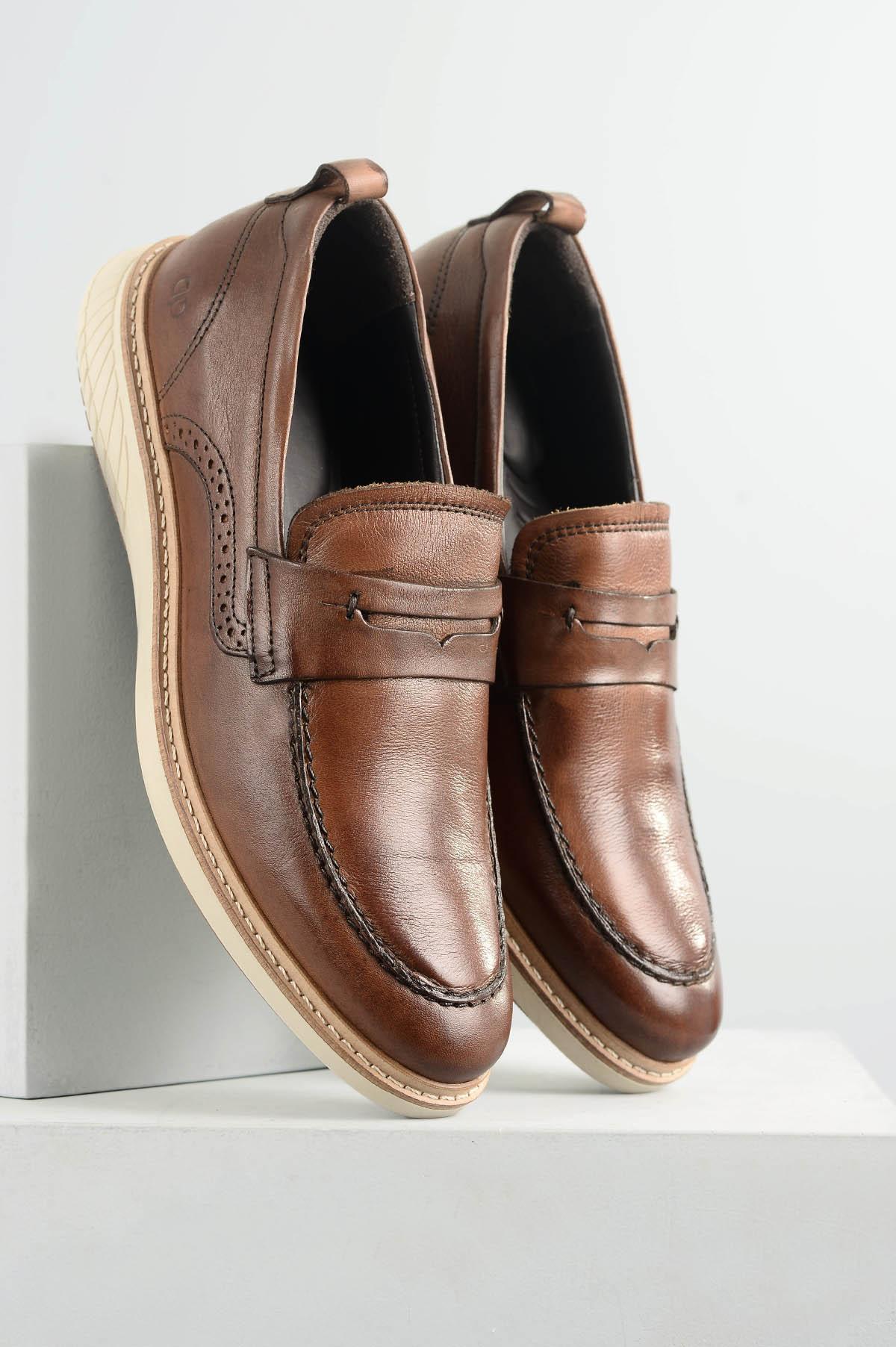 6bcfc448a7b2d Sapato Democrata Mocassim Metropolitan Skyline Marrom - Mundial Calçados