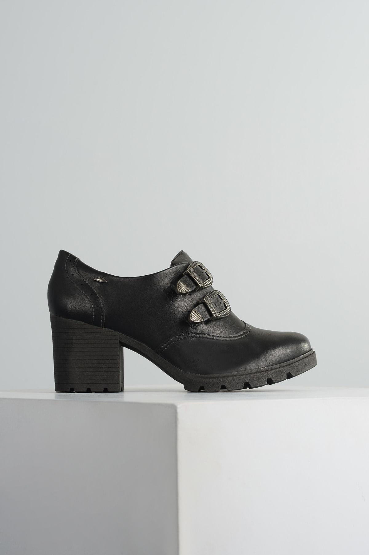 203ab3d653 Sapato Feminino Elyana Dakota SINT - PRETO - Mundial Calçados
