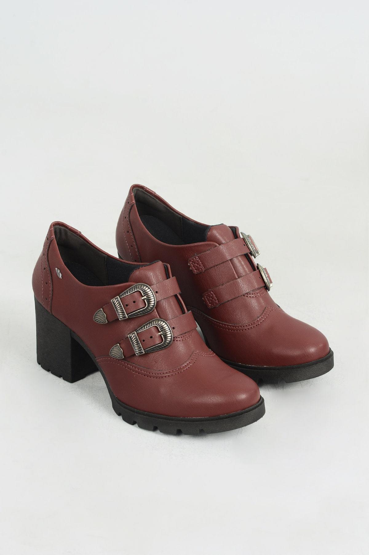 328fb1ef66 Sapato Feminino Elyana Dakota SINT - VINHO - Mundial Calçados