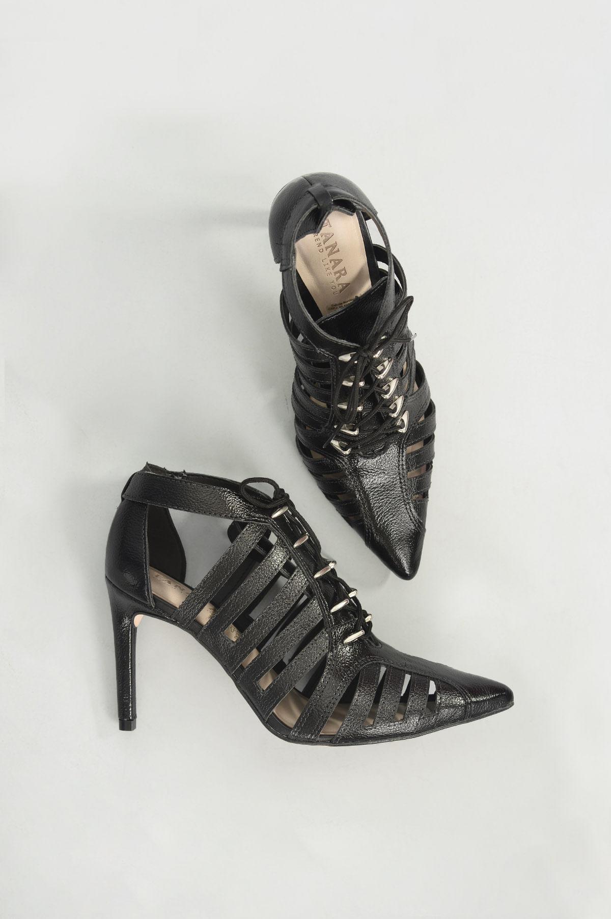 2614f9adb9 Sapato Salto Alto Shain Tanara SINT - PRETO - Mundial Calçados