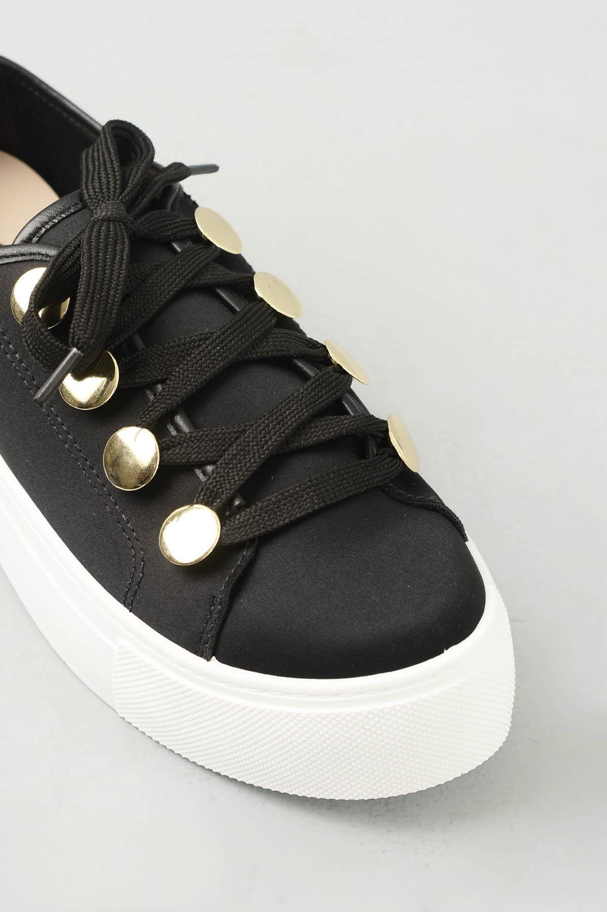 4e3357de63 Tênis Feminino Plataforma Jodie Moleca TEC - PRETO - Mundial Calçados