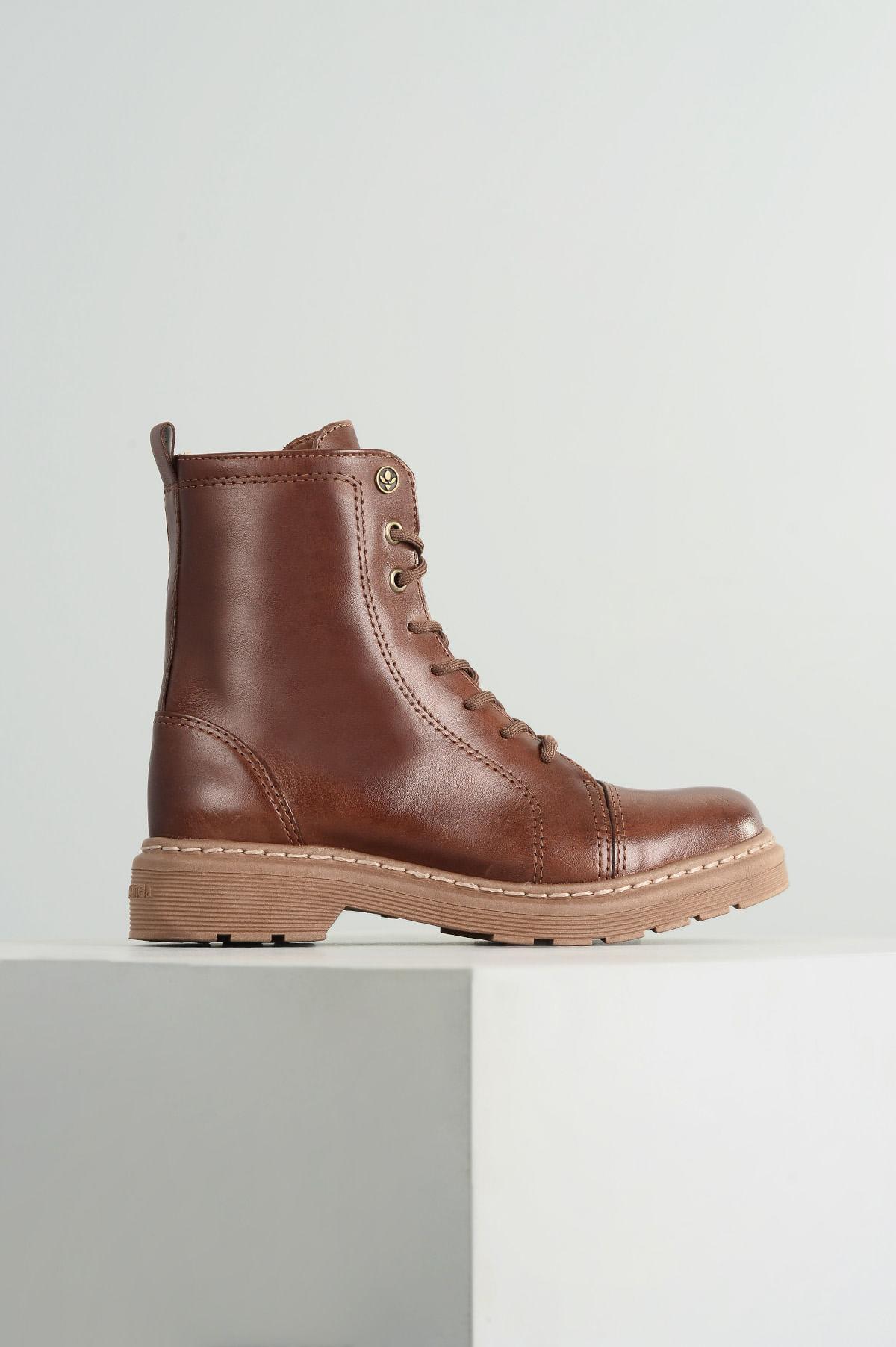 8acbf16749 Bota Coturno Gracy Cravo e Canela CR - CAFE - Mundial Calçados
