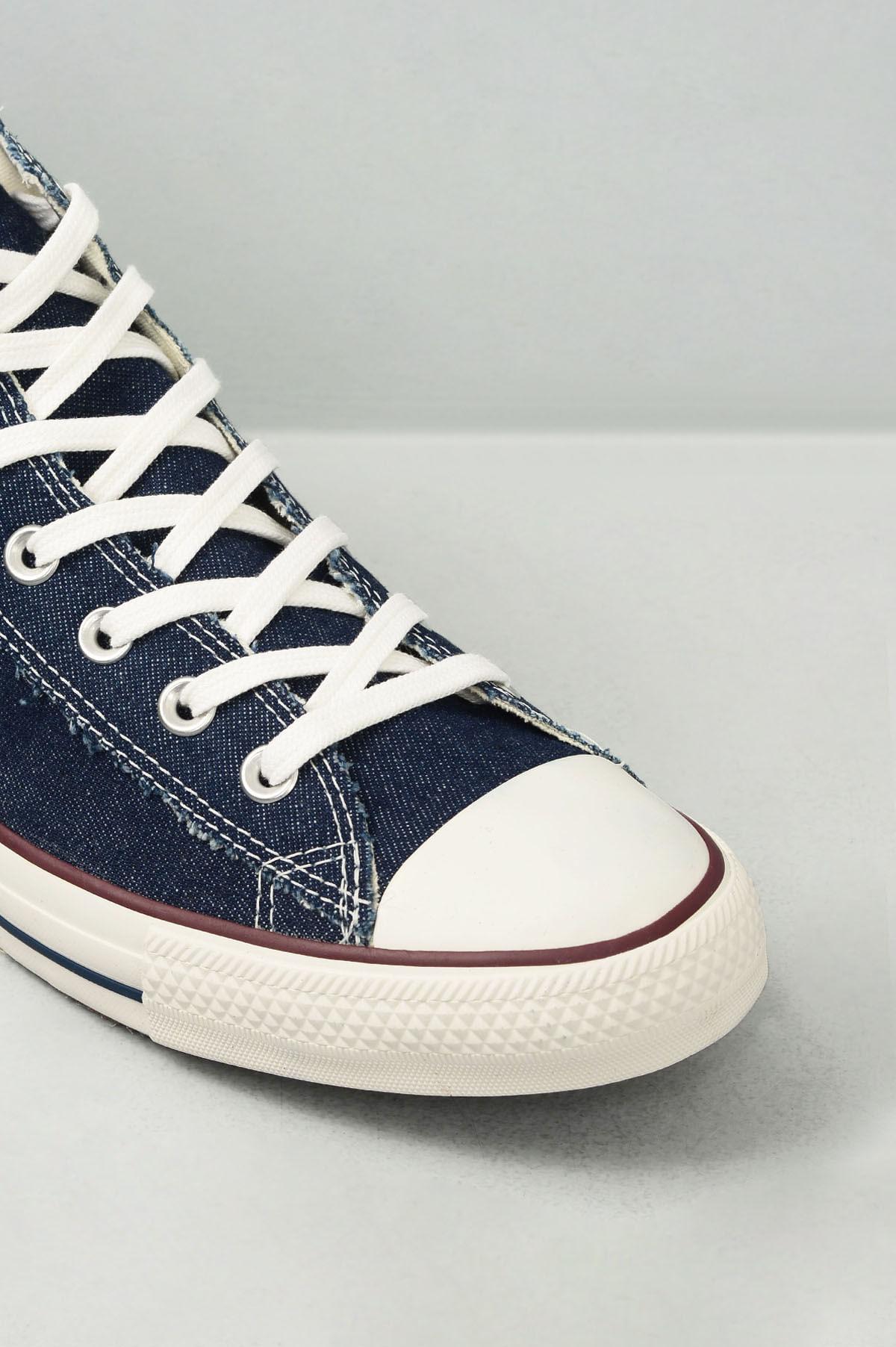 13110df7a86 Tênis Converse Cano Alto All Star Chuck Jeans TEC - MARINHO ...