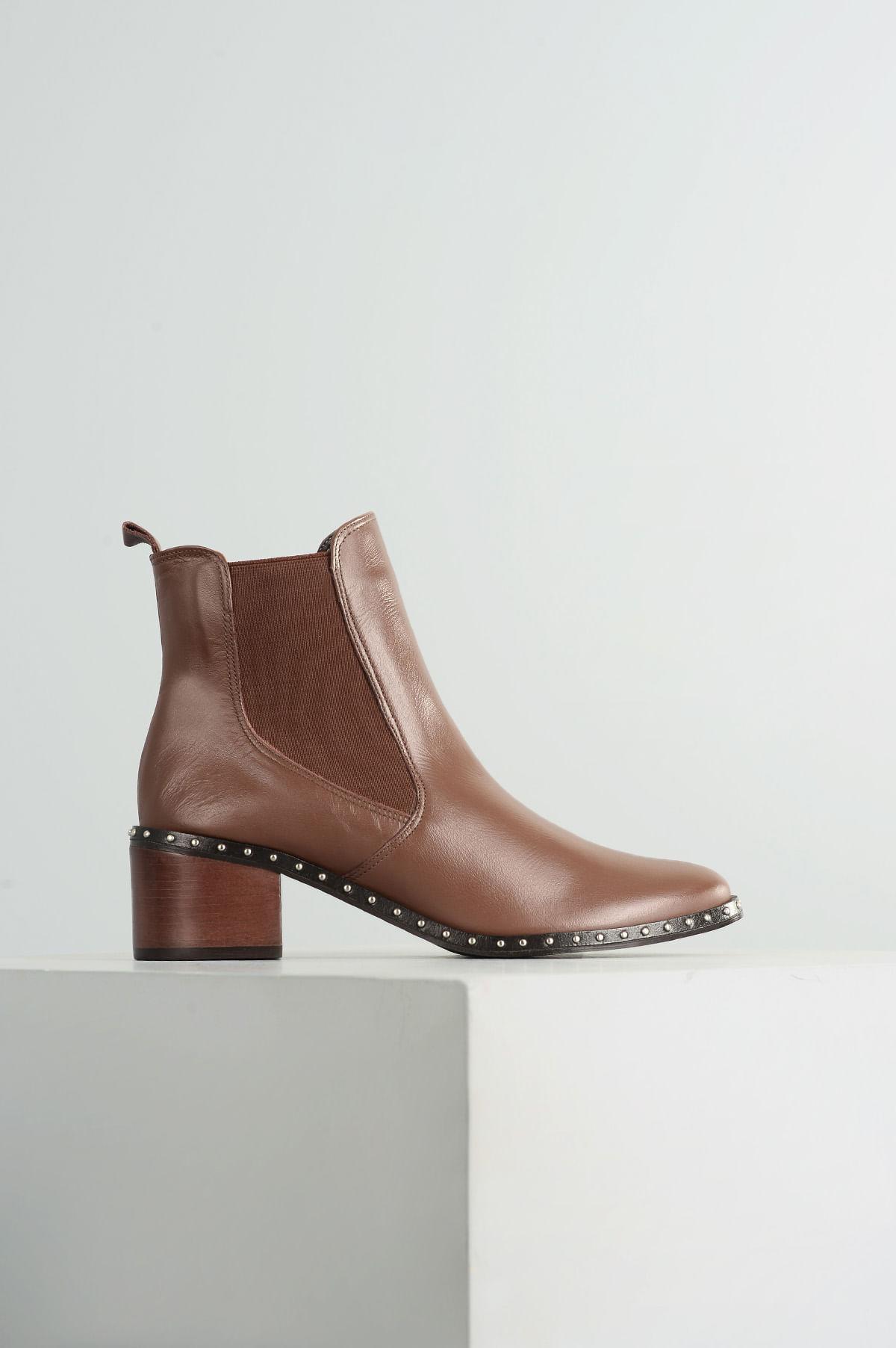 aca88be5d3 Ankle Boot Feminino Gardner Mundial CR - CAFE - Mundial Calçados