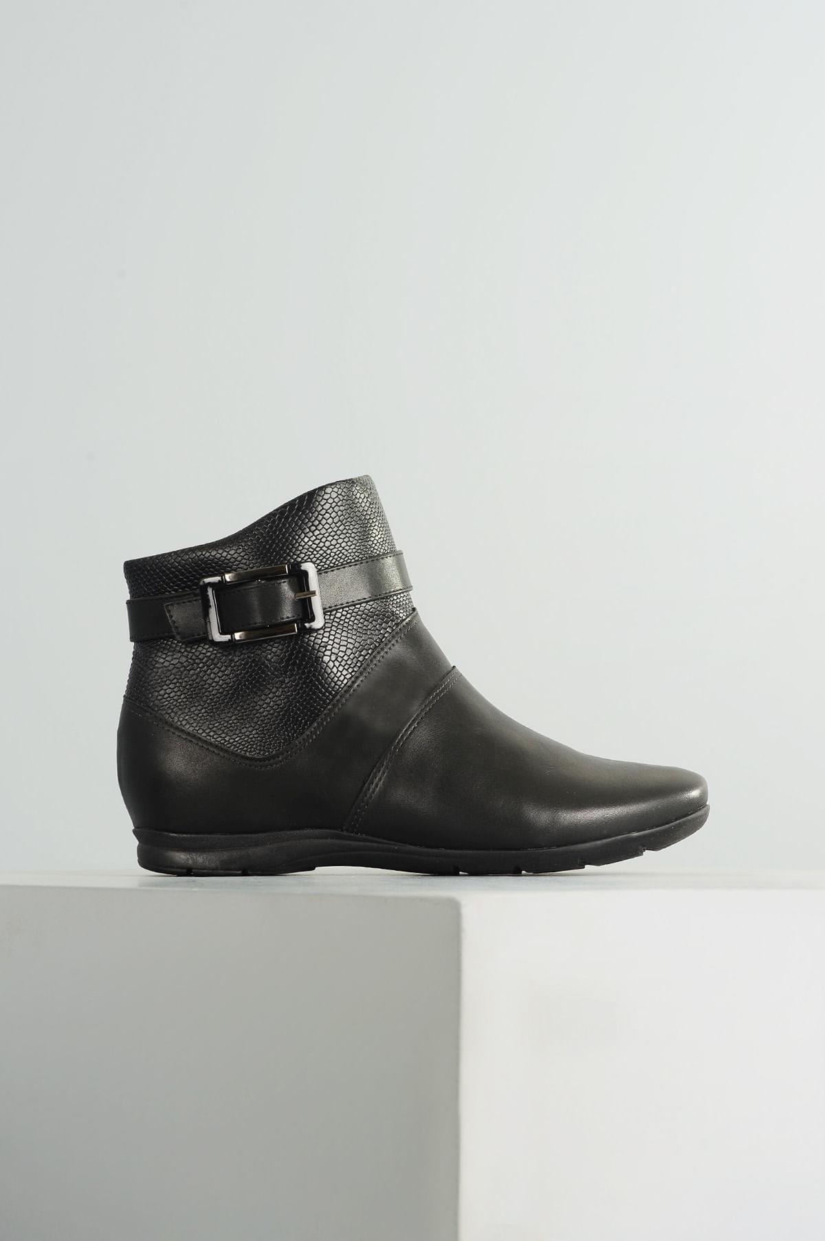 2e4c66ff39 Ankle Boot Flat Jeane Comfortflex SINT - PRETO - Mundial Calçados
