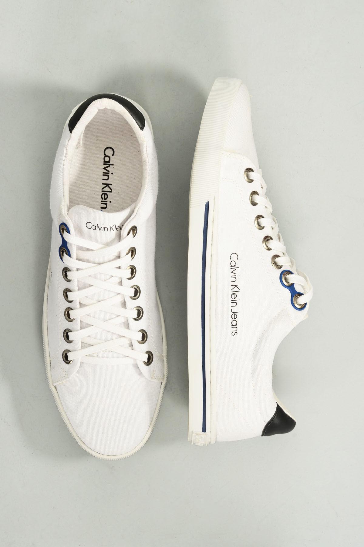 54db4644ad9 Sapatênis Masculino Calvin Klein Enzo TEC - BRANCO - Mundial Calçados