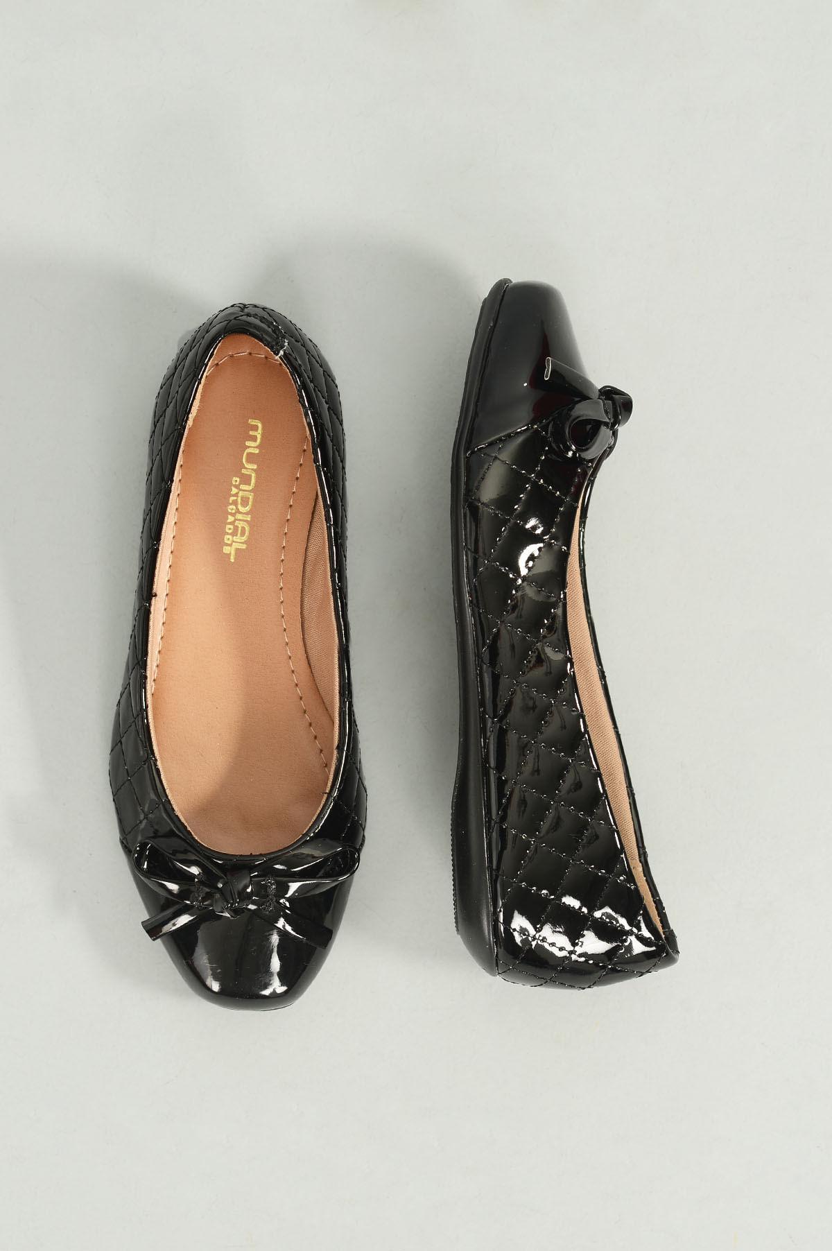 e4f7ab06c0 Sapatilha Infantil Mariele Mundial VERNIZ PRETO - Mundial Calçados