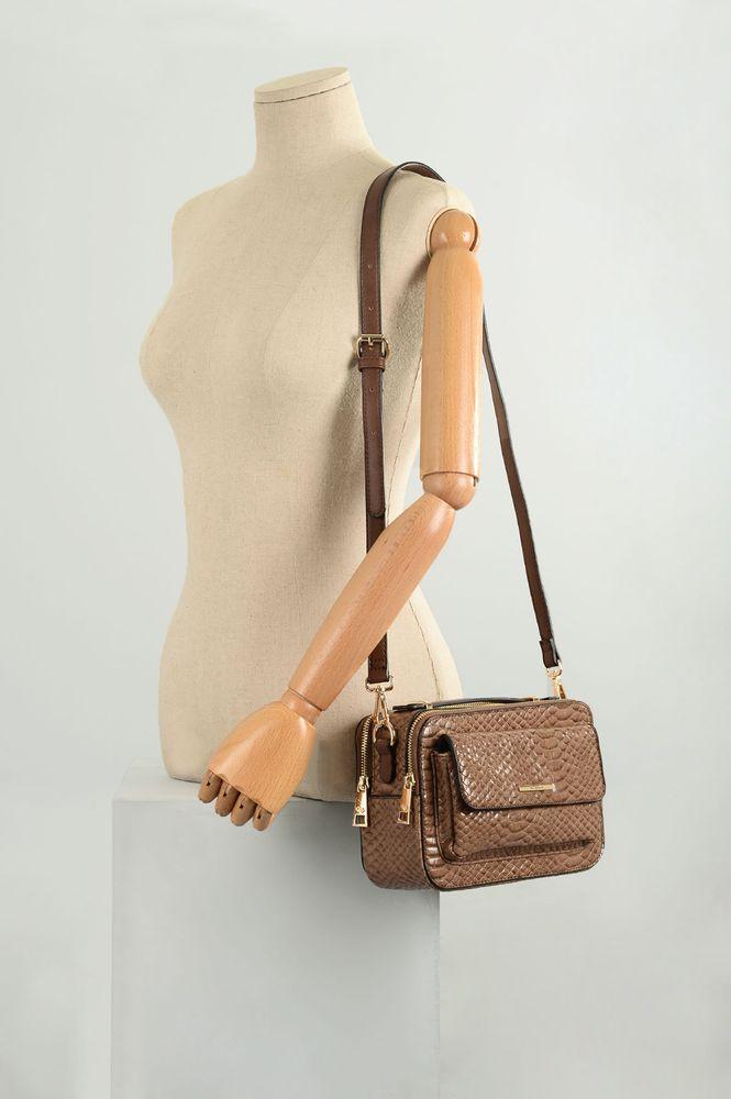 Bolsa Feminina Wj Kutcher SINT - MARRON - Mundial Calçados
