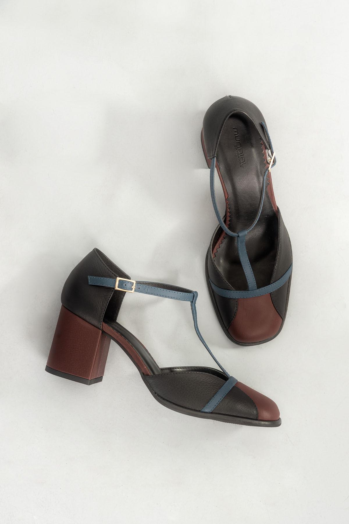 7e9d132b95 Sapato Feminino Salto Alto Flomyn Mundial CR-PRETO - Mundial Calçados