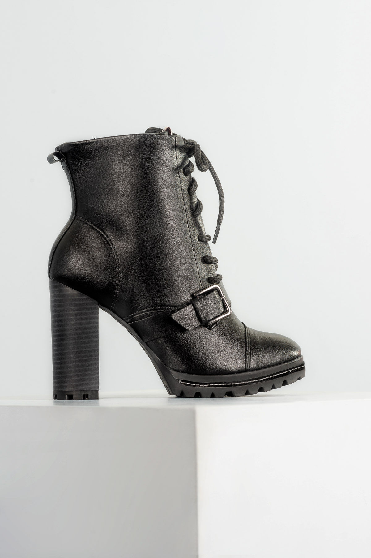 4dddc41ad Bota Feminina Coturno Elyse Ramarim SINT - PRETO - Mundial Calçados