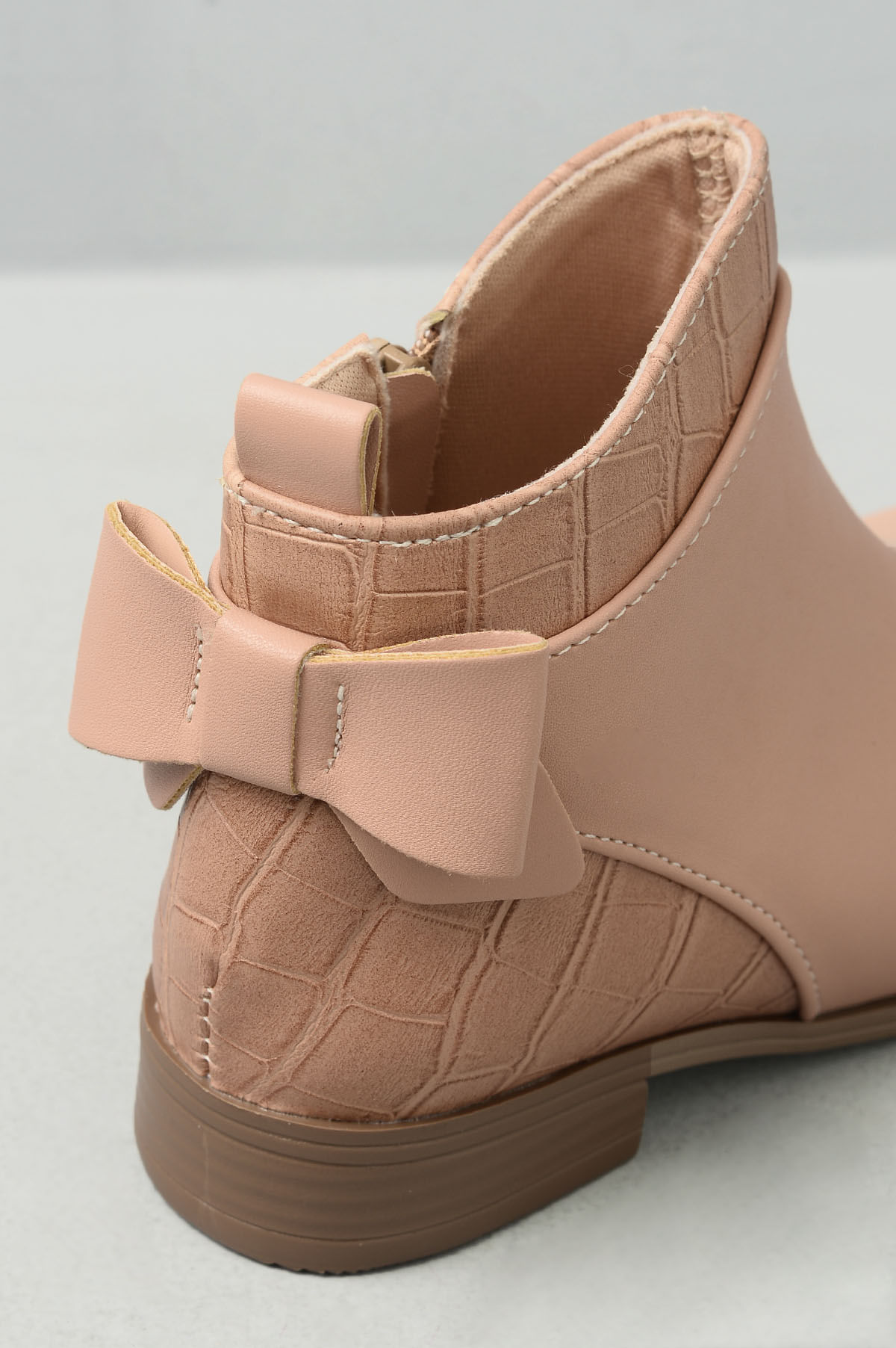 614bb2895 Bota Infantil Barbara Mundial SINT - NUDE - Mundial Calçados