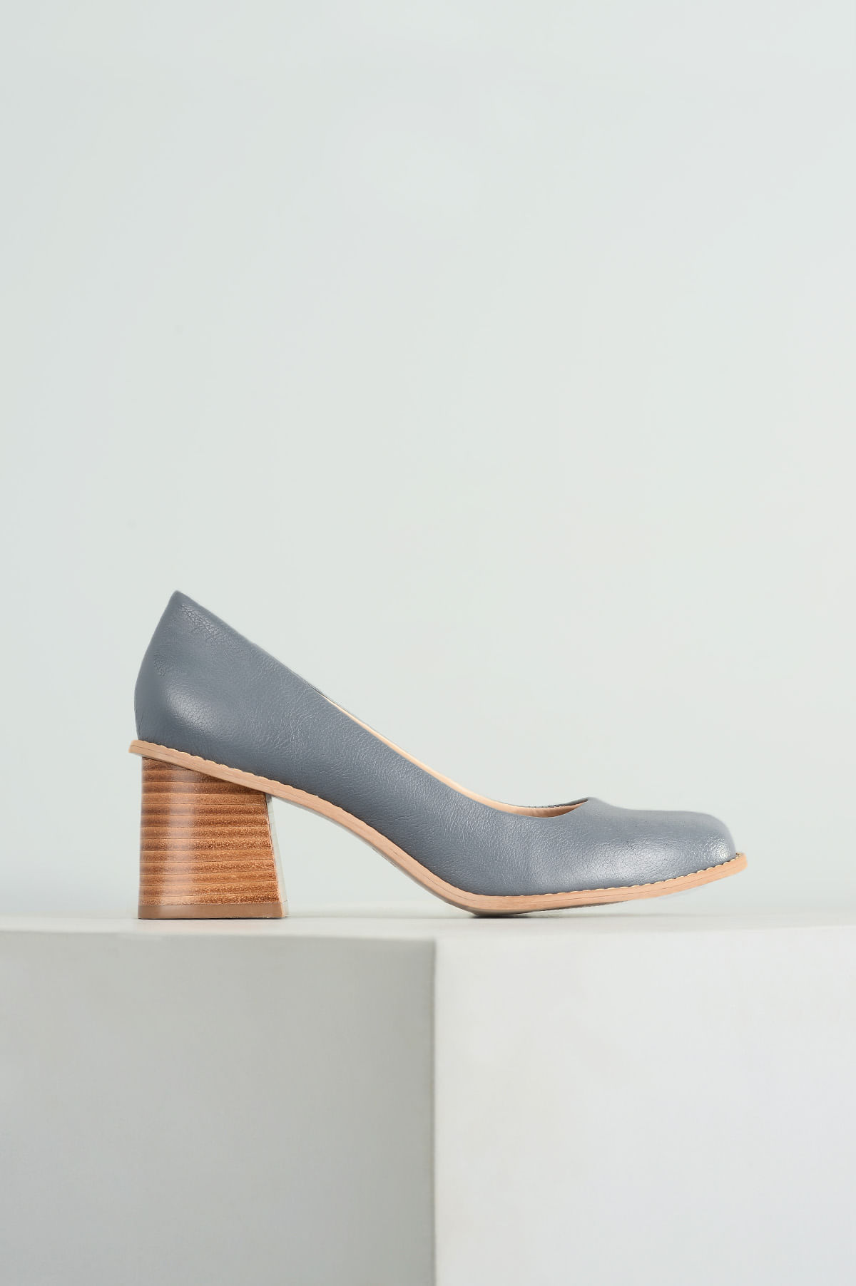 102a9dc04 Sapato Feminino Salto Médio Lorelay Mundial CR-AZUL - Mundial Calçados
