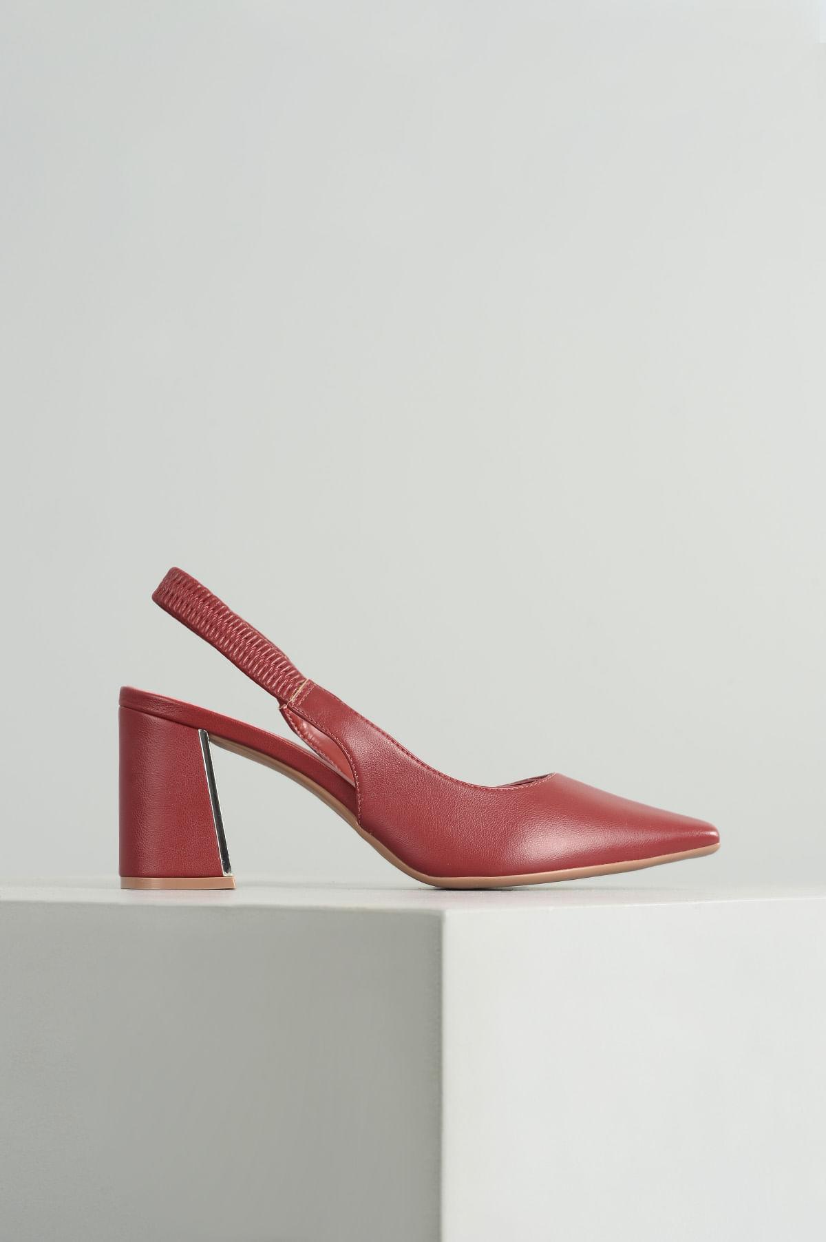 8a66483ca8 Sapato Salto Alto Claudia Mundial SINT - VERMELHO - Mundial Calçados