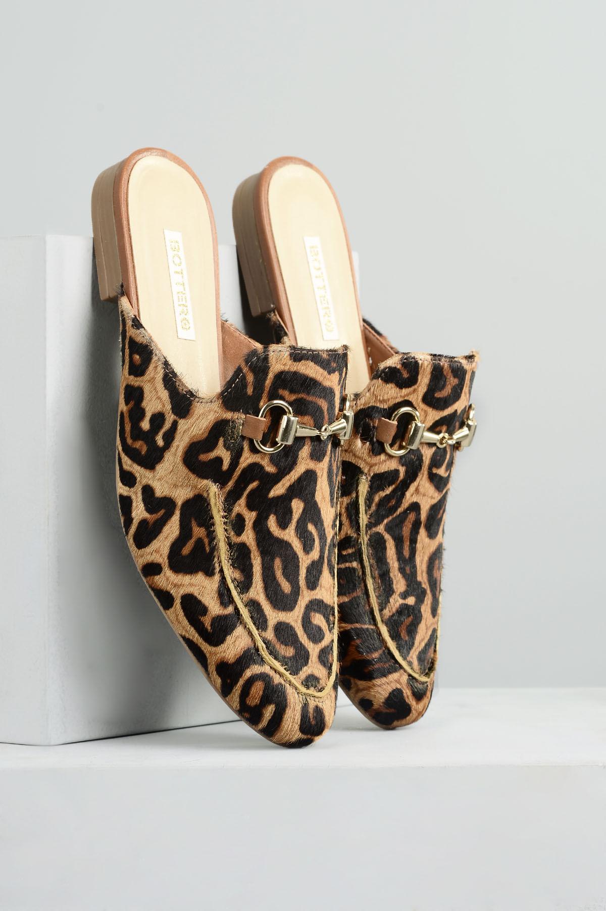 bdc0c7576 Mule Feminino Maryon Bottero PELO - ONCA - Mundial Calçados