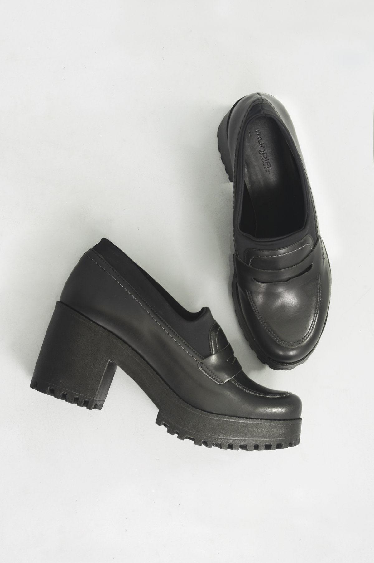 71c35a6d1a Sapato Salto Alto Loren Mundial SINT - PRETO - Mundial Calçados