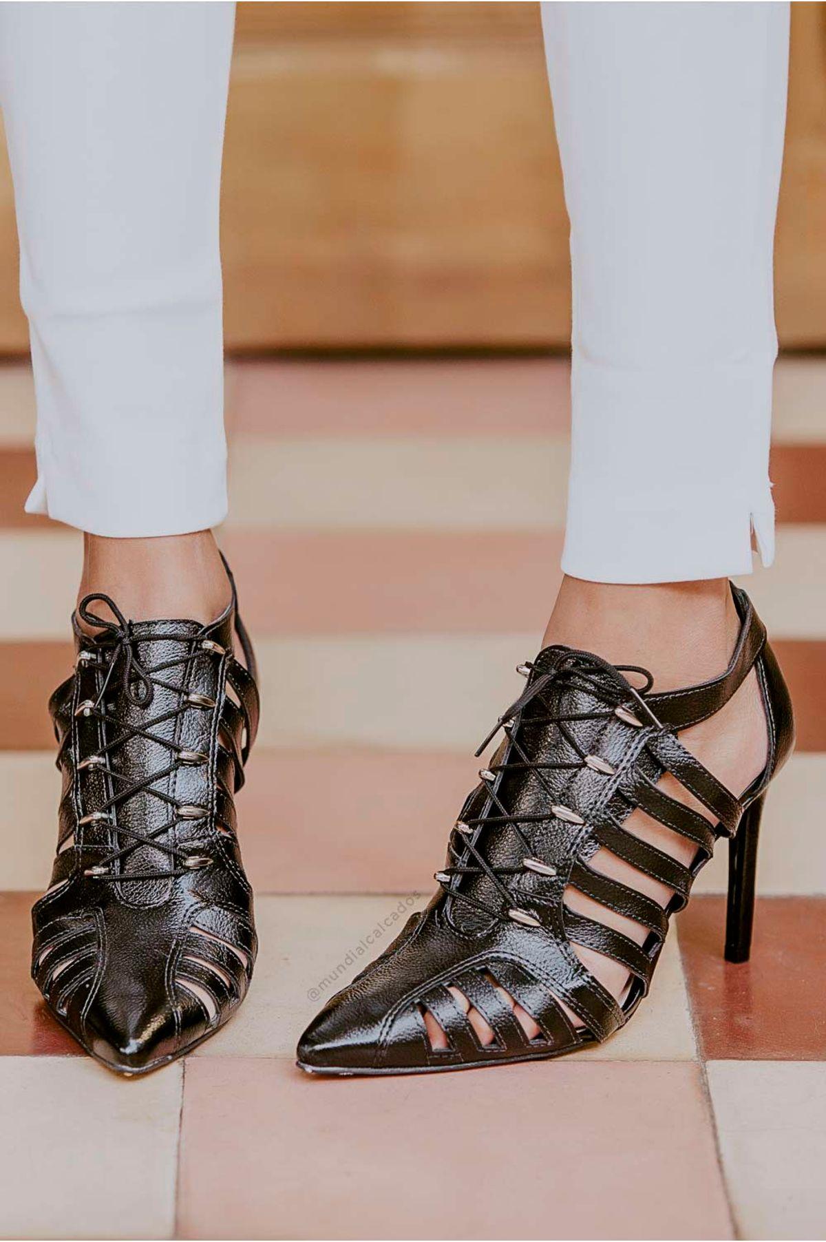 606f41be0 Sapato Salto Alto Shain Tanara SINT - PRETO - Mundial Calçados